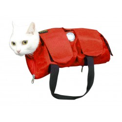 CONTENT SAC CHAT VELCRO S ROUGE