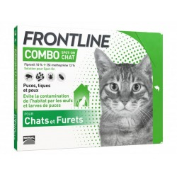 FRONTLINE COMBO Chat Furet Spot-on 3 pipettes