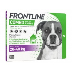 FRONTLINE COMBO Grand Chien L 20-40 kg Spot-on 6 pipettes