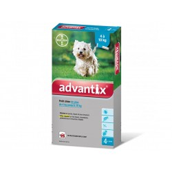ADVANTIX Petit Chien 4-10 kg Spot-on 4 pipettes 1 ml