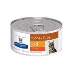 Prescription Diet Chat K/D KIDNEY CARE POULET 24 Boîtes 156 g