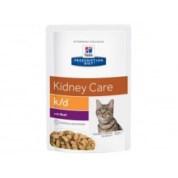 Prescription Diet Chat K/D KIDNEY CARE BOEUF 12 Sachets 85 g