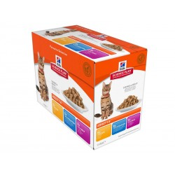 Science Plan Chat ADULT PACK MIXTE Sachets 12 X 85 g
