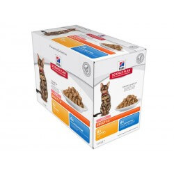 Science Plan Chat ADULT LIGHT PACK MIXTE Sachets12 X 85 g