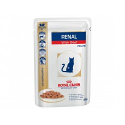 Veterinary Diet Chat RENAL BOEUF 12 sachets 85 g