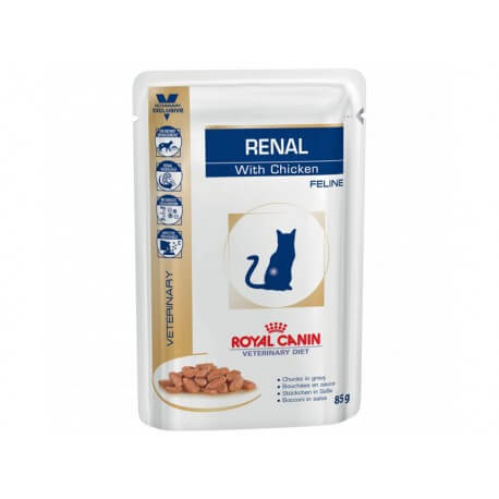 Veterinary Diet Chat RENAL POULET 12 sachets 85 g