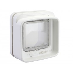 CHATIERE SUREFLAP CT DUALSCAN BLANC