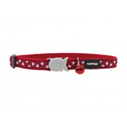 Collier Chat RED DINGO ETOILE ROUGE/BLANC