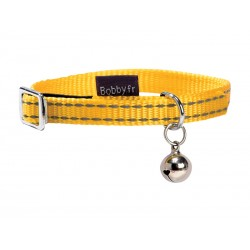 Collier Chat SAFE JAUNE 10 mm - 17/26 cm
