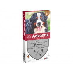 ADVANTIX Très Grand Chien plus de 40 kg Spot-on 4 pipettes 6 ml