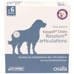 Aliment complémentaire Chien EASYPILL RESOLVIN ARTICULATION 6 Barres