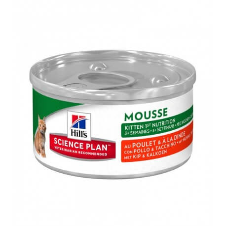 Science Plan Chat KITTEN MOUSSE 1ER NUTRITION 24 Boîtes 82 g