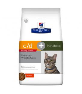 FELINE C/D METABOLIC + URINARY STRES 4KG