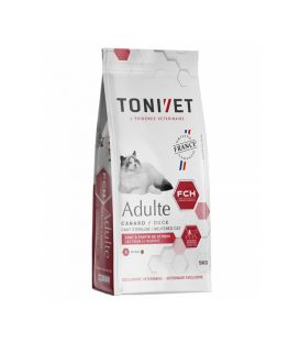 TONIVET CHAT ADULTE CANARD SAC 1,5 KG