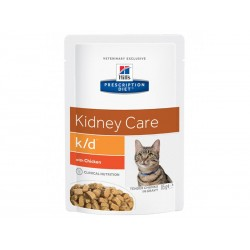 Prescription Diet Chat K/D KIDNEY CARE POULET 12 Sachets 85 g